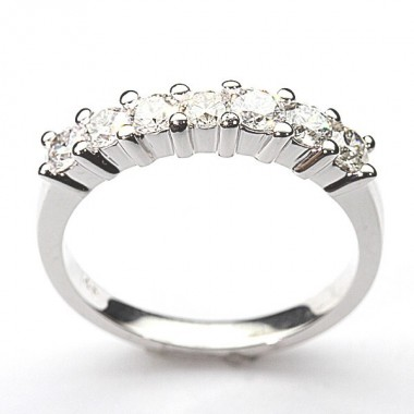 5 Stone Common Prong Wedding Band