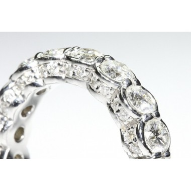Intricate Diamonds & Pave Eternity Band