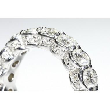 Intricate Diamonds & Pave Eternity Band