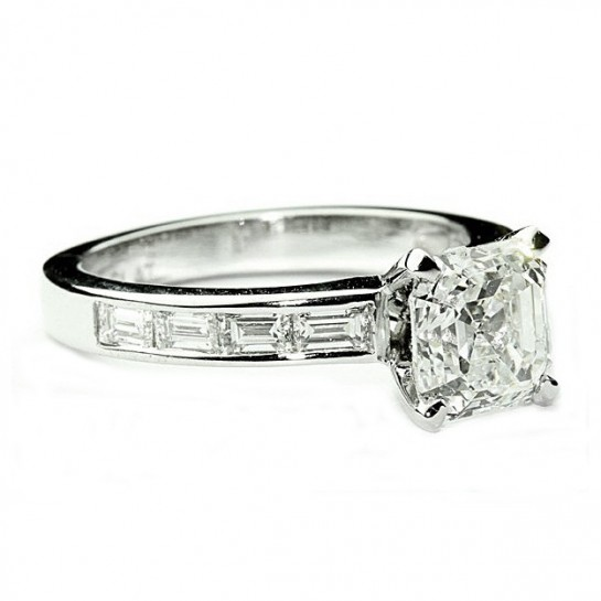 Channel Baguette Engagement Ring