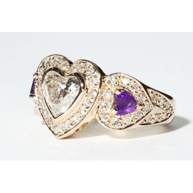 Heart Shaped Bezel Engagement Ring