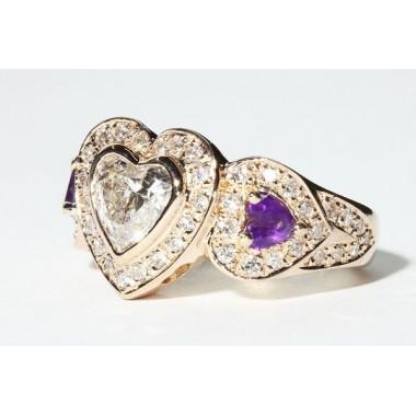 Heart Shaped Bezel Engagement Ring