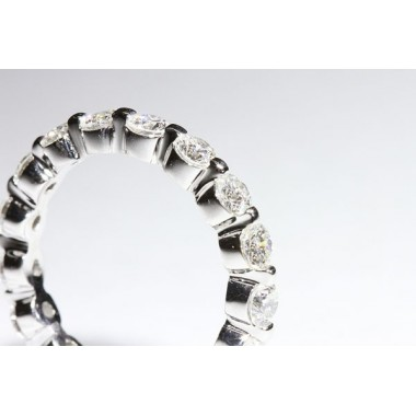 2 CTW Two Prong Setting Eternity Band