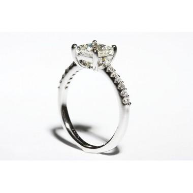 Low Set Princess Cut Engagement Ring