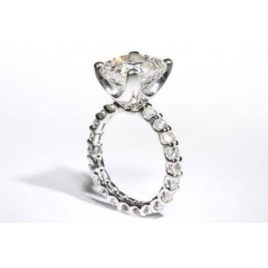 """Eternity """"U""""Prong Engagement Ring"""