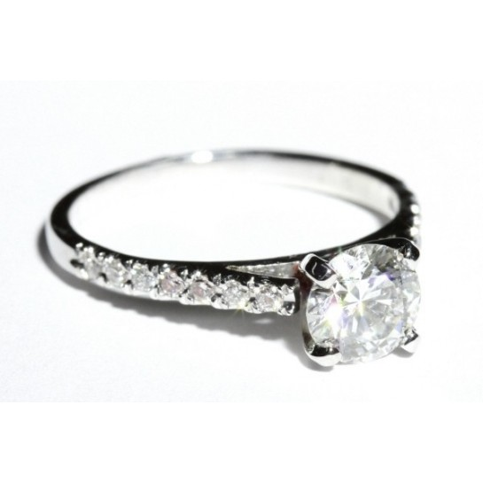 Diamond Cathedral Engagement Ring