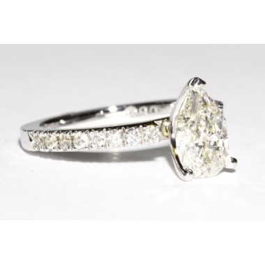 Open Prong Diamond Engagement Ring