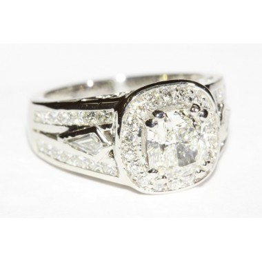 Kite Side Stone Diamond Engagement Ring