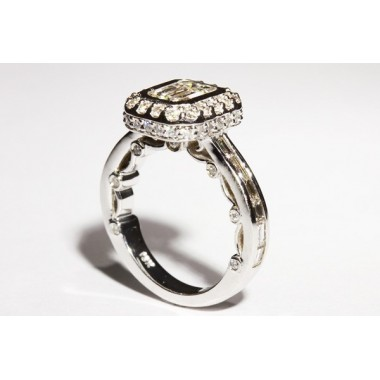 Kobe Mark Double Edged Halo Engagement Ring