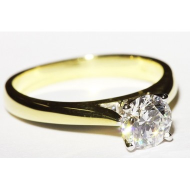 Two-Tone Cathedral Solitaire 2.8mm Engagement Ring