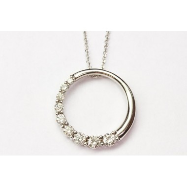 3/4 CTW Diamond Circle Pendant