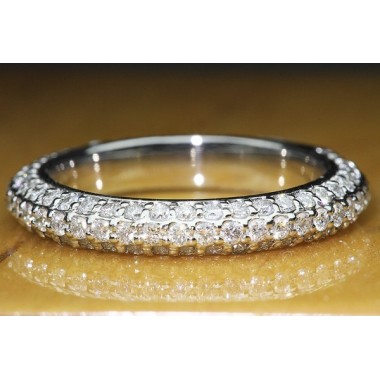 1 CTW Micro Diamond Pave Wedding Band