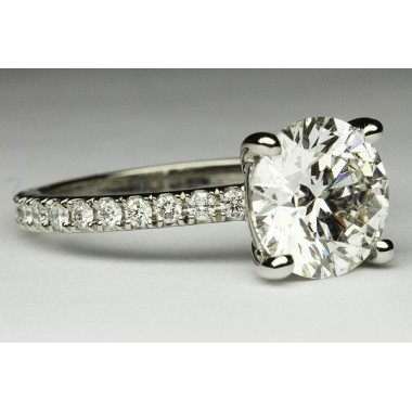 Kobe Mark 2 MM Pave Eternity Engagement Ring