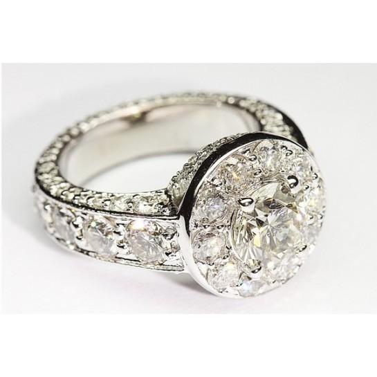 Kobe Mark 5 CT Halo Engagement Ring