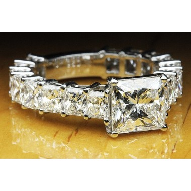 7.50 CTW Princess Cut Engagement Ring