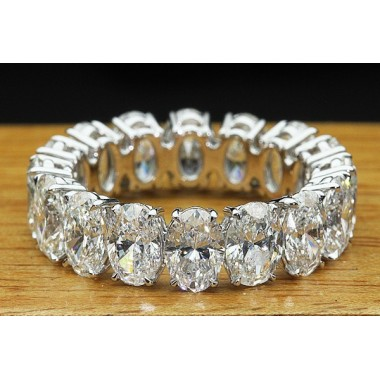Oval Diamond 7.50 CT Eternity Wedding Band