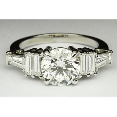 Kobe Mark Triple Baguette Engagement Ring