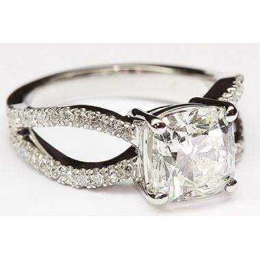 Kobe Mark Split Shank Engagement Ring