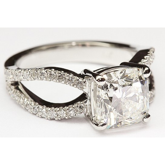 Kobe Mark Split Shank Engagement Ring