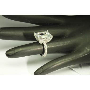 10.50 CTW Emerald Cut Diamond Ring