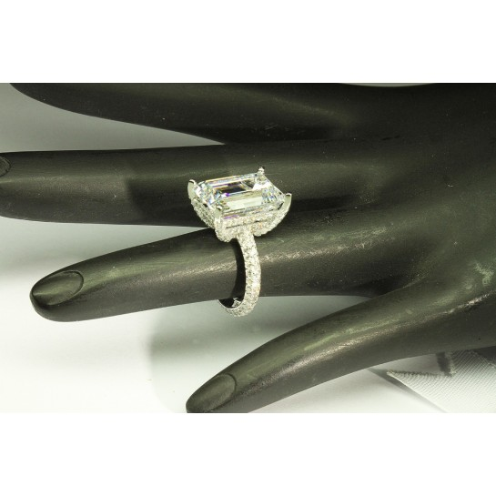 10.50 CTW Emerald Cut Diamond Ring