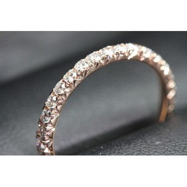 Rose Gold Diamond Cut Eternity Band