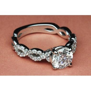 Platinum Infinity Diamond Engagement Ring