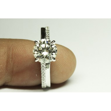 Kobe Mark Double Diamond Cathedral Engagement Ring