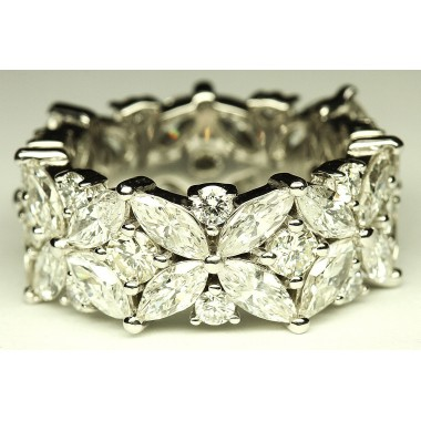 Maquise & Round Diamond Exquisite Diamond Ring Band