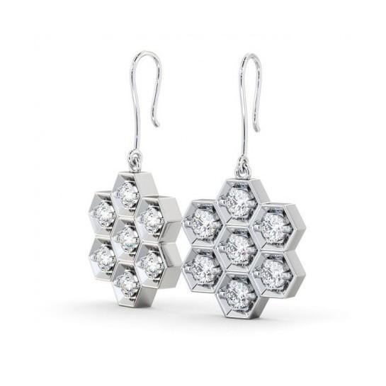 Diamond HoneyComb Earrings