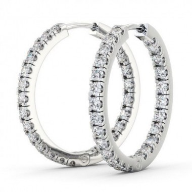 1/2 ctw Diamond Diamond Hoop Earrings