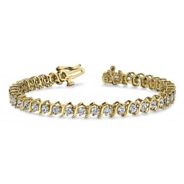 4 Carat Classic DIAMOND Tennis Bracelet 14K White or Yellow Gold