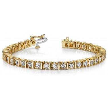 5.1 Carat CLASSIC DIAMOND BAR SET Tennis Bracelet 14K White or Yellow Gold