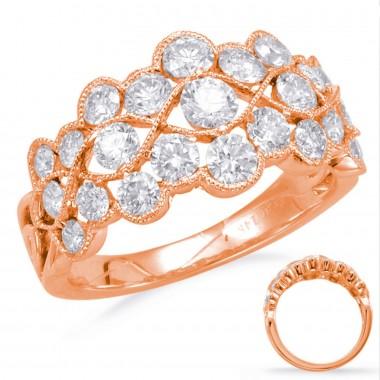 1.56 carat Fashion Diamond Ring 14k ose/Pink Gold
