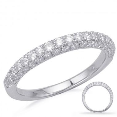 .75 Carat Diamond Wedding Band 14K White Gold