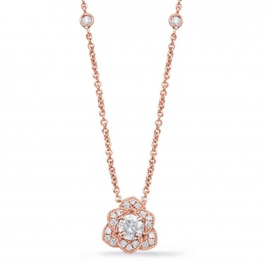 1/2 ctw. 14K ROSE-White-Yellow GOLD DIAMOND NECKLACE
