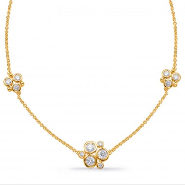 1.56 ctw. Yellow GOLD DIAMOND NECKLACE