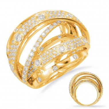 2.15 ctw. GOLD DIAMOND FASHION RING 14K Yellow Gold