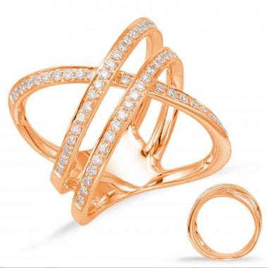 .75 Carat GOLD DIAMOND FASHION RING 14K Rose Gold