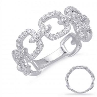 .50 Carat GOLD DIAMOND FASHION RING 14K White Gold