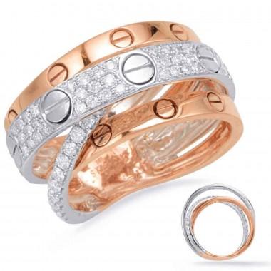 .80 Carat GOLD DIAMOND FASHION RING 14K Rose & White Gold