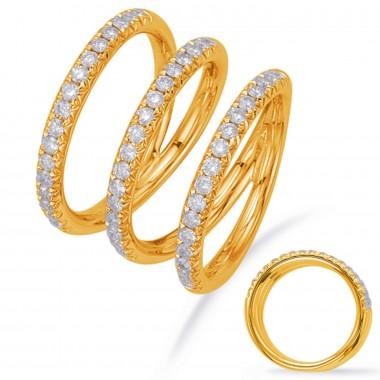 .65 ctw. GOLD & DIAMOND Split Shank FASHION RING Yellow Gold G VS