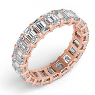 Emerald Cut Eternity Band (avail in 3.50ct,4.50ct,5.50ct, 6.50ct, 7.50ct,8.50ct, 9.50ct, 10.50ct)