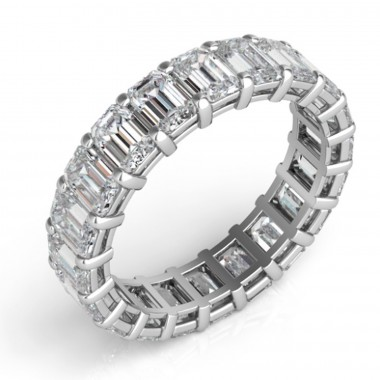 6.50 ctw Emerald Cut Eternity Band (avail in 3.50ct,4.50ct,5.50ct, 6.50ct, 7.50ct,8.50ct, 9.50ct, 10.50ct)