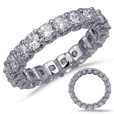 4.00 ctw Cushion Cut Eternity Band (avail in 3.50ct,4.00ct,5.50ct, 6.50ct, 7.50ct,8.50ct, 9.50ct, 10.50ct)