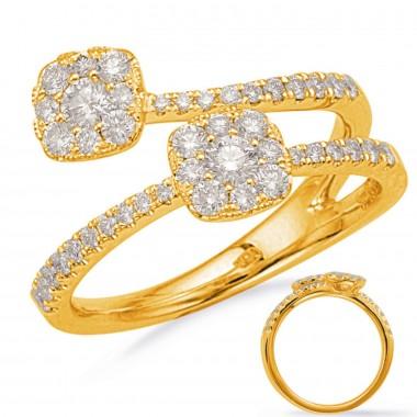 .65 ctw. GOLD & DIAMOND Split Shank FASHION RING Yellow or White or Rose Gold G VS