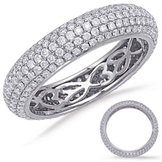 1.36 ctw. WHITE GOLD ETERNITY PAVE BAND 5mm Size 7