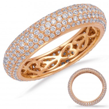 1.36 ctw. WHITE Rose ETERNITY PAVE BAND 5mm Size 7