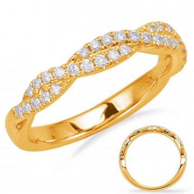 Yellow Gold 1/3 CTW Diamond Twist Wedding Band 3mm Wide G VS2-SI1 Ideal Cut