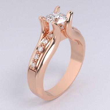 main .90 Carat Diamond Designer Ring Round 5.80 mm